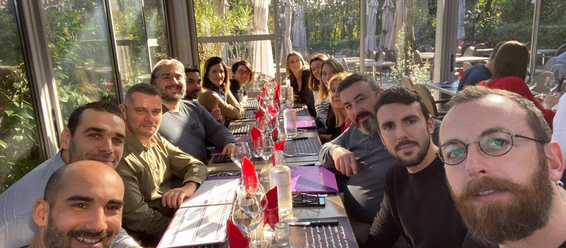 Repas avec notre partenaire l'agence Habitat de la CAISSE D'EPARGNE de Aix-en-Provence